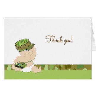 Notes de Merci pliées par militaires de bébé