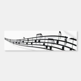Notes de musique adhésif pour voiture
