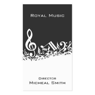 Notes de musique carte de visite standard