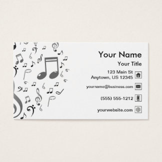 Notes de musique cartes de visite