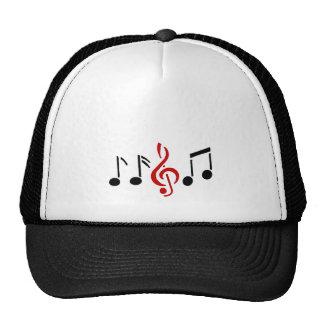 notes de musique casquettes de camionneur