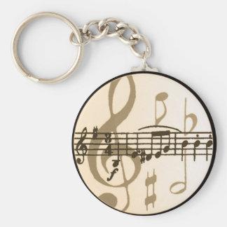 Notes de musique porte-clés