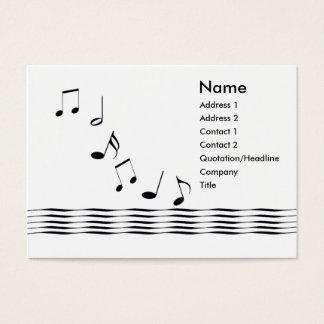 Notes de musique - potelées cartes de visite