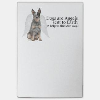 Notes de post-it d'ange de chien de bétail
