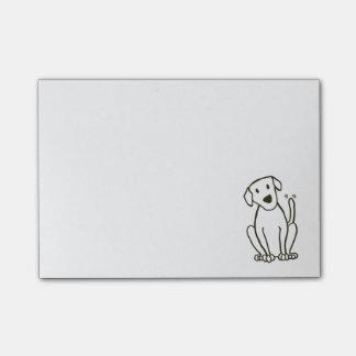 Notes de post-it de chien de Labrador