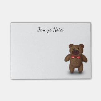 Notes de post-it mignonnes d'ours de nounours
