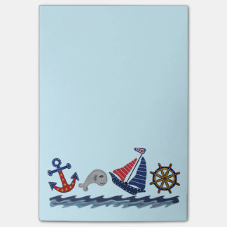 Notes de post-it nautiques de motif post-it®