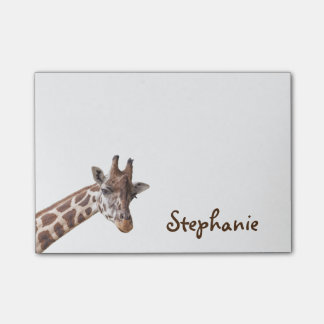 Notes de post-it nommées Girly de girafe