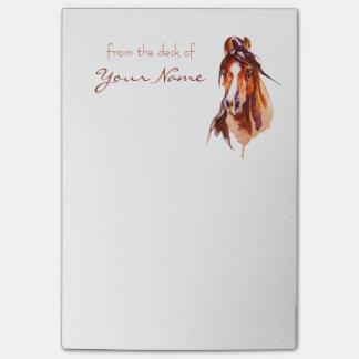 Notes de post-it personnalisées d'art de cheval post-it®