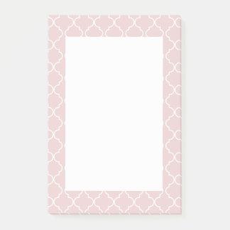 Notes de post-it saumonées de rose de motif de