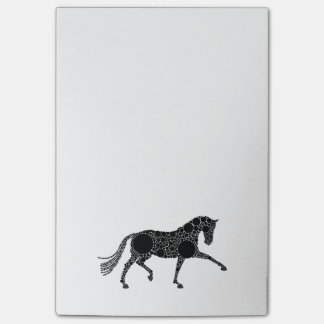 Notes d'entrée de marque de cheval de dressage