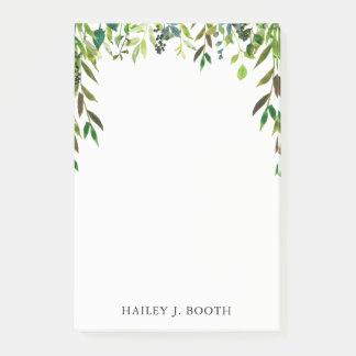 Notes drapées florales de guirlande de feuille