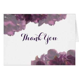 Notes florales pourpres de Merci