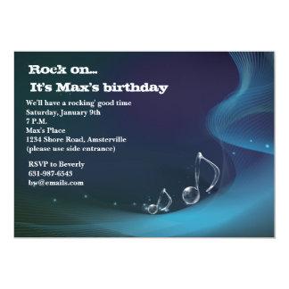 Notes glacées - invitation de fête d'anniversaire