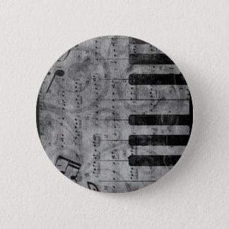 Notes grunges antiques fraîches de musique de badge