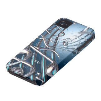 Notes musicales abstraites coque iPhone 4