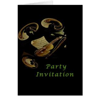 Notes musicales - carte d'invitation de partie