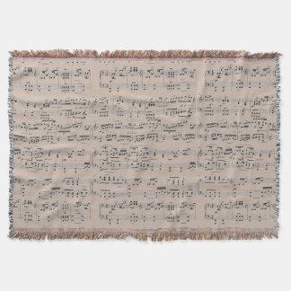 notes musicales couvre pied de lit