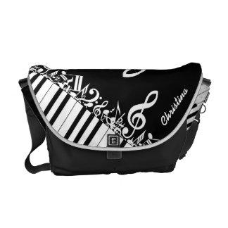Notes musicales et clés brouillées personnalisées sacoche