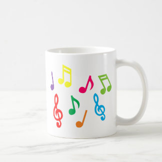 Notes musicales mug