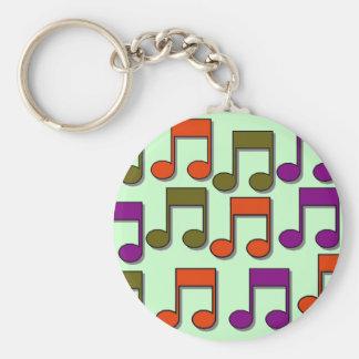 Notes musicales porte-clés