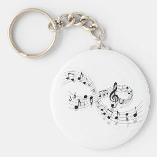 Notes musicales sur une ligne de personnel porte - porte-clés