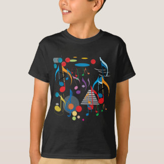 Notes musicales t-shirt