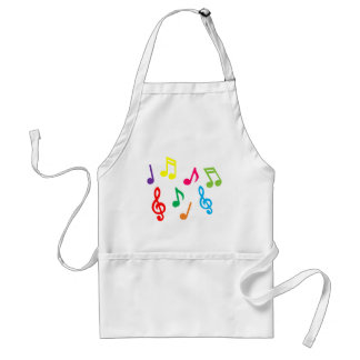 Notes musicales tablier