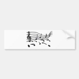 Notes, musique autocollant de voiture