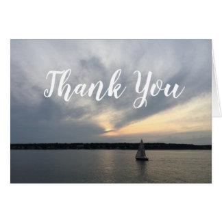 Notes nautiques de Merci de bateau à voile