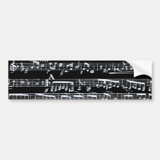 Notes noires et blanches de musique autocollant de voiture