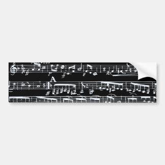 Notes noires et blanches de musique autocollant pour voiture