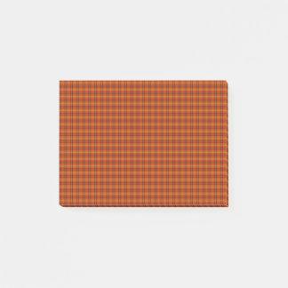 Notes oranges de Courrier-it® de tartan