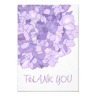 Notes plates de Merci floral pourpre d'art Carton D'invitation 8,89 Cm X 12,70 Cm