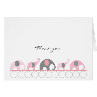 Notes roses et grises de Merci d'éléphant de baby