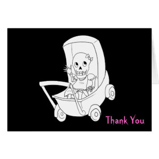 Notes squelettiques de Merci de Halloween de bébé