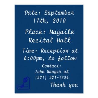 notez le personnel abstract png bleu de n carton d'invitation