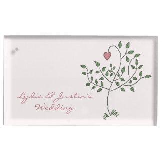 Notre amour est mariage profond porte-cartes de  table
