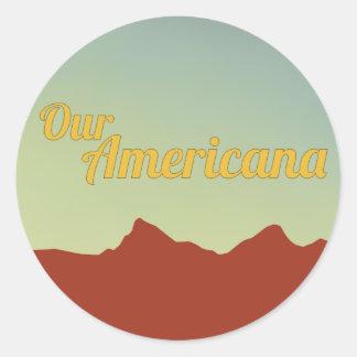 Notre autocollant americana