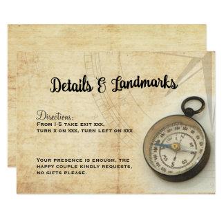 Notre aventure continue la carte détail carton d'invitation 8,89 cm x 12,70 cm