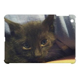 notre chaton noir que nous avons secouru coques pour iPad mini