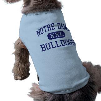 Notre Dame - bouledogues - haute - cap Girardeau T-shirt Pour Chien