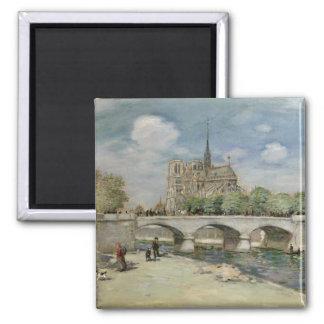 Notre Dame de Paris, c.1900 Magnet Carré