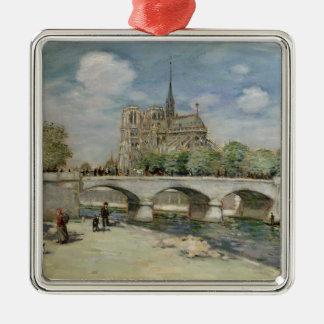 Notre Dame de Paris, c.1900 Ornement Carré Argenté