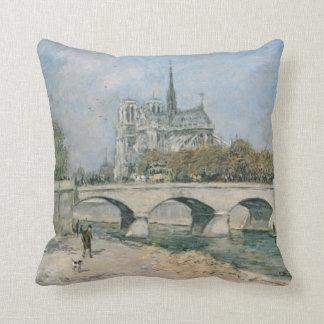 Notre Dame de Paris vintage Coussin