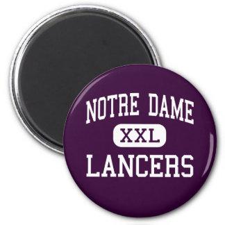 Notre Dame - Lancers - catholique - Fairfield Aimant Pour Réfrigérateur
