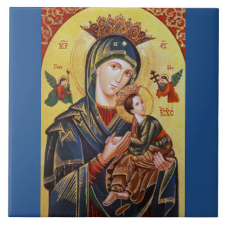 NOTRE DAME OF PERPETUAL HELP ICON CARREAU