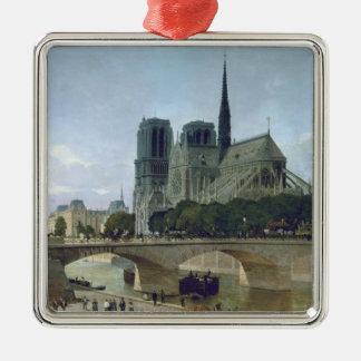 Notre Dame, Paris, 1884 Ornement Carré Argenté