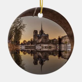 Notre-Dame, PAris, France Ornement Rond En Céramique