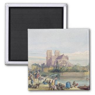 Notre Dame, Paris (la semaine sur le papier) Magnet Carré